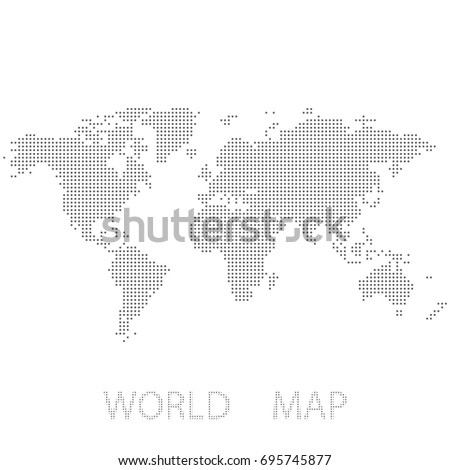 Dotted abstract world map vector dot stock vector 695745877 dotted abstract world map vector dot map gumiabroncs Image collections