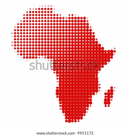 dotted africa - vector - - stock vector