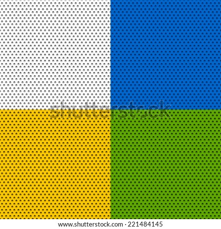 Dotted background(s) - stock vector