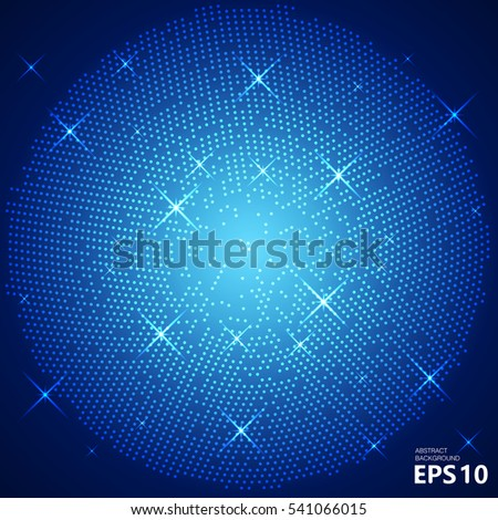Dotted background. Vector Illustration.