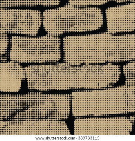 Dotted brick wall - stock vector