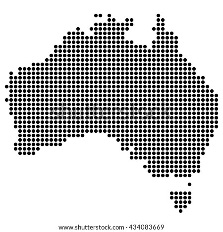 Dotted map - Australia
