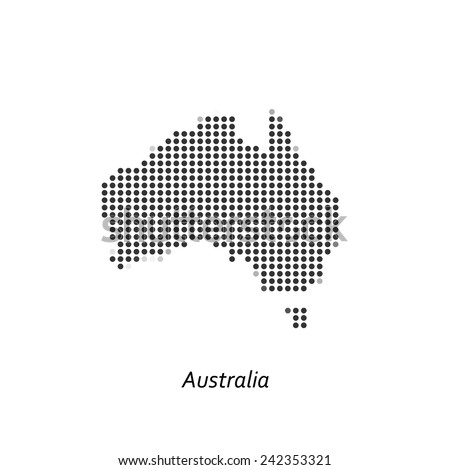 Dotted map of Australia for your design, concept Illustration. - stock vector