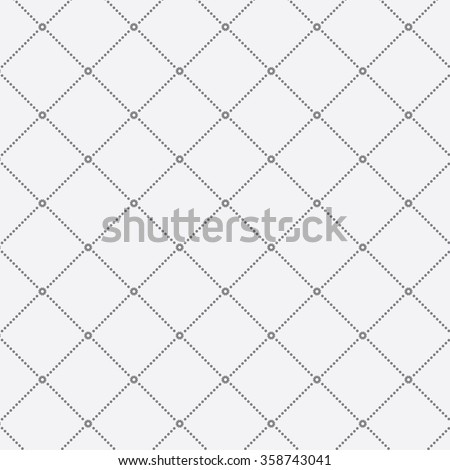 Dotted monochrome stylish geometric diamond shape pattern, vector. decorated abstract flowers on each corners. - stock vector