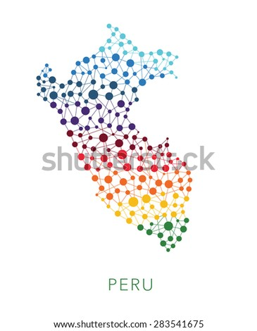 dotted texture Peru vector background on white - stock vector