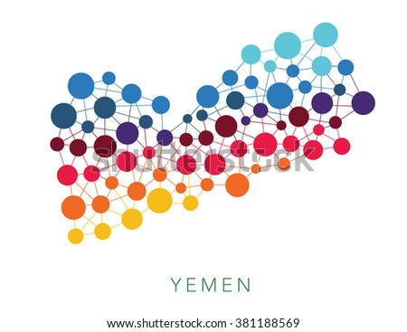 dotted texture Yemen vector background  - stock vector