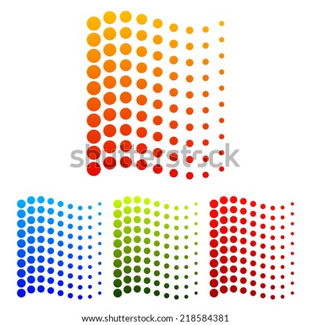 Dotted waving lines - stock vector