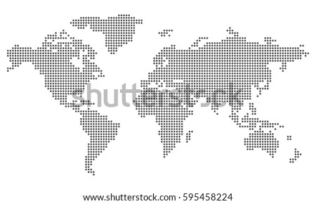 Dotted world map stock vector 595458224 shutterstock gumiabroncs Image collections