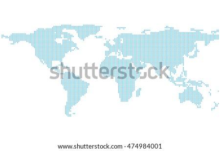 world map set 1 stock vector 376562032 shutterstock
