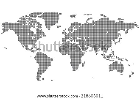 Precise world map performed circles illustration stock dotted world map vector gumiabroncs Images