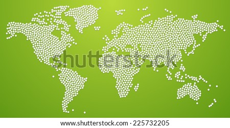Dotted world map. Vector Illustration - stock vector