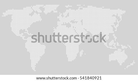 Dotted world map. Vector illustration