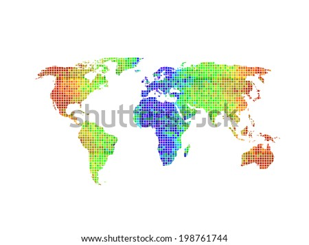 Dotted world map vector illustration easy vectores en stock dotted world map vector illustration easy all editable gumiabroncs Images