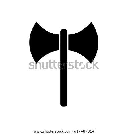 Double Axe Icon Stock Vector 617487314 Shutterstock