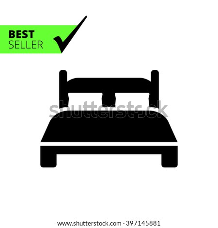 Double bed - stock vector
