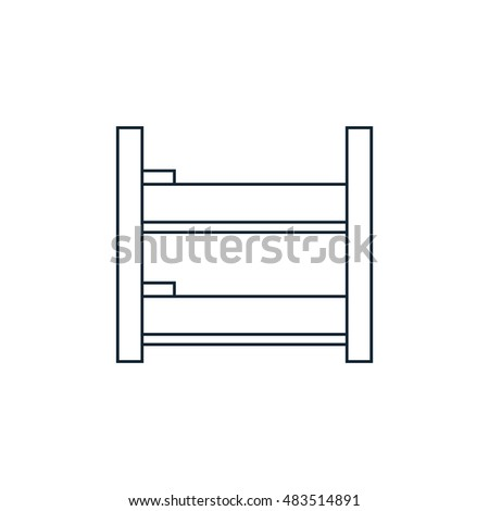 Double bed line icon Vector Illustration Image Web Material icon  Flat