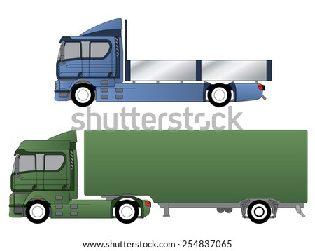 Double cab trucks with single axles and various chassis