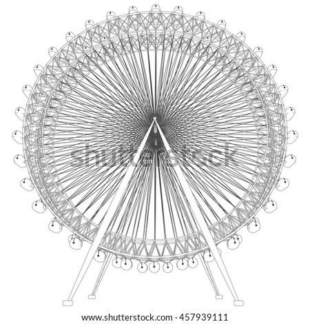 Double Carousel Vector 47 - stock vector