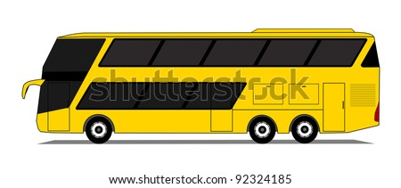 Double deck coach vector