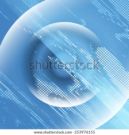 double exposure blue abstract lights disco background square pixel mosaic vector eps 10 - stock vector