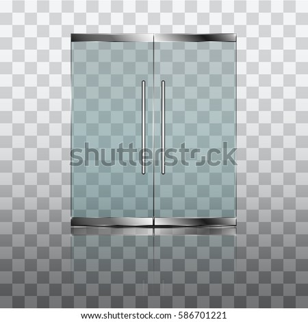 Double glass doors to the shopping center or office. Vector graphics with transparency effect  sc 1 st  Shutterstock & Shop Door Stock Images Royalty-Free Images \u0026 Vectors | Shutterstock
