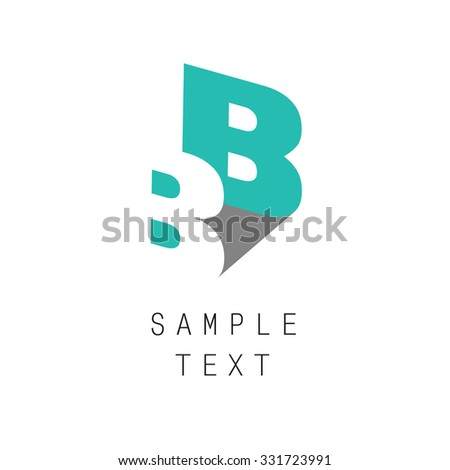 Double letter B icon for corporate identity, element for sign and logo - stock vector