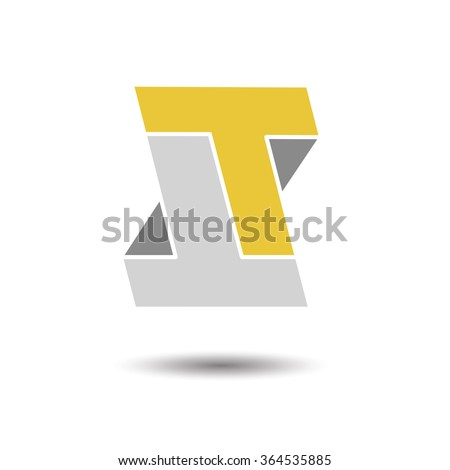 Double letter T icon for corporate identity, element for sign and logo - stock vector