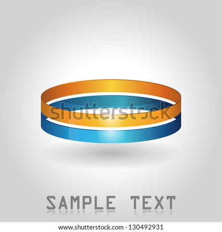double ring icon. - stock vector