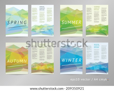 double sided vector leaflet brochure cover stock vector 209350921