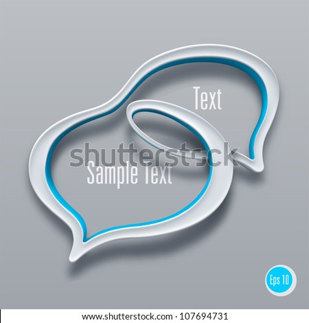 Double talk bubble sign. Vector - stock vector