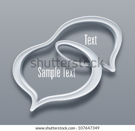 Double talk bubble. Vector - stock vector