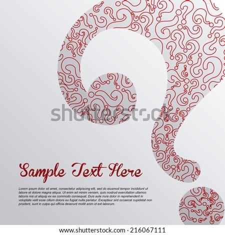 doubt design over background vector illustration - stock vector