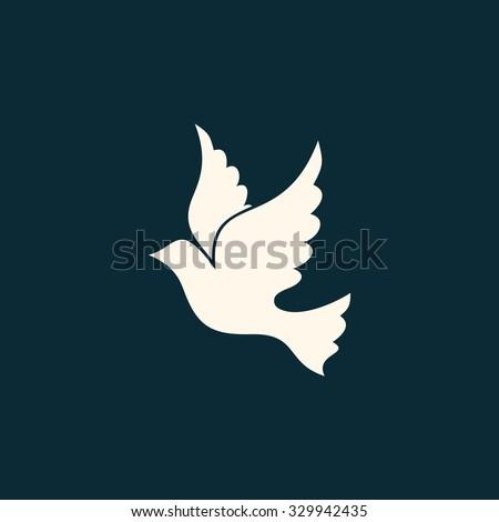 Dove, Holy Spirit - stock vector