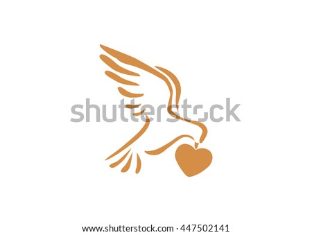 Dove icon. - stock vector