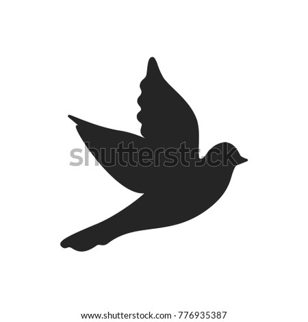 dove icon bird symbol animal pictogram stock vector 776935387 rh shutterstock com Black Dove Symbol Black Dove Symbol