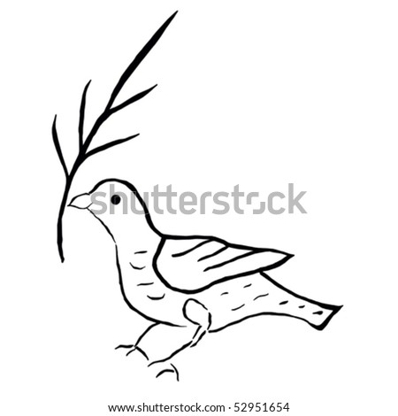 Dove of peace - stock vector