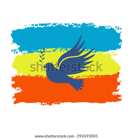 Dove of peace. Dove of Peace Vector. Peace dove, symbol of peace. Dove on a colored background. - stock vector