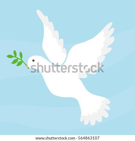 Dove Peace Dove Symbol Peace White Stock Vector 564863107 Shutterstock