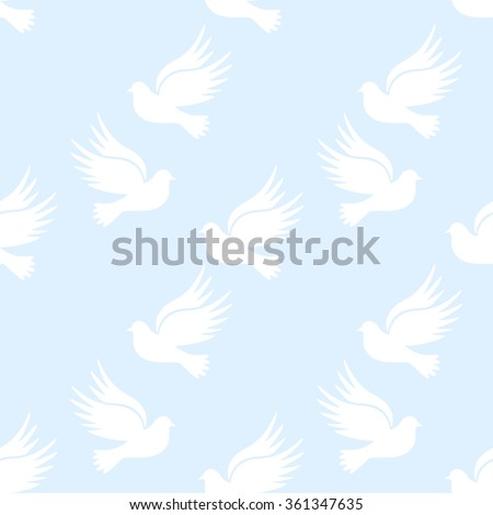 dove of peace. doves and love. Pigeons symbol family.seamless picture of pigeons - stock vector