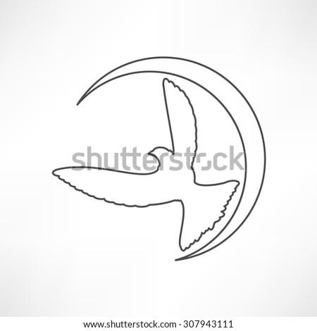 Dove of Peace illustration - stock vector