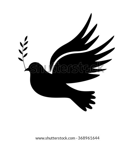 dove peace vector illustration symbols stock vector 368961644 rh shutterstock com Holy Spirit Dove Symbol Turtle Doves Symbolism
