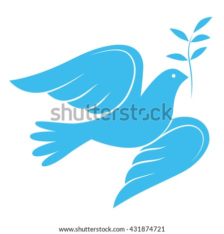 Dove of Peace with olive branch