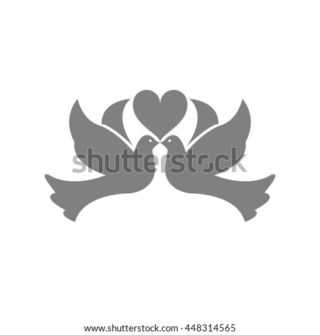 Doves icon. - stock vector