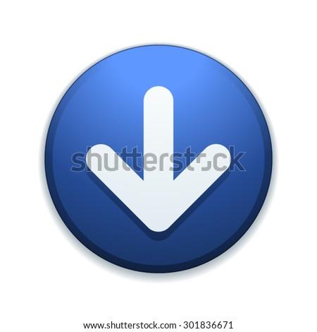 Down button - stock vector