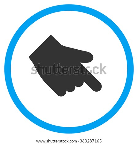 Down Right Index Finger Icon - stock vector