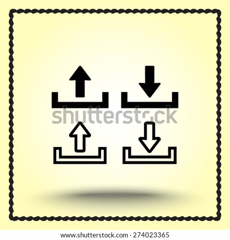 Download and upload sign  icon, vector illustration. Flat design style