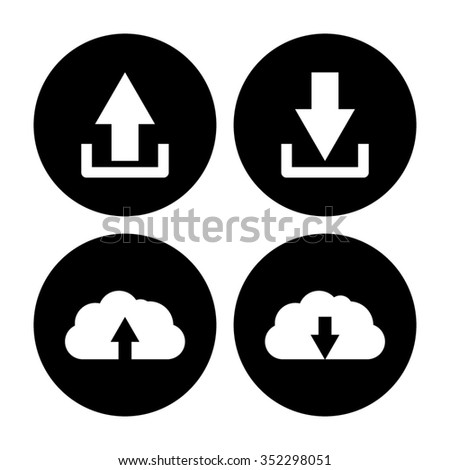 download and upload - vector icon