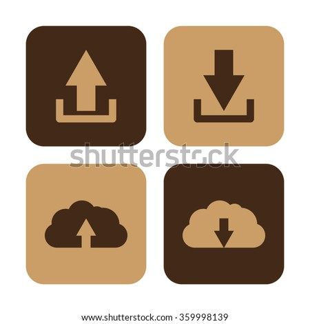 download and upload  - vector icon set