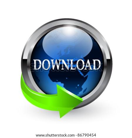 Download button. Vector - stock vector