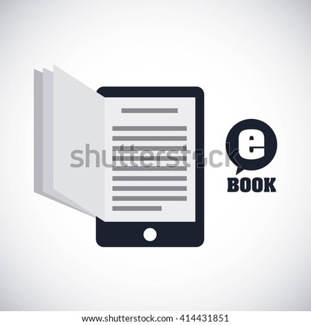 download e-book design  - stock vector